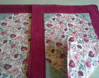 Fabric quilted placemats-set of 2
