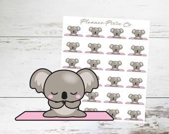 Koala Planner Stickers // Yoga // Exercise