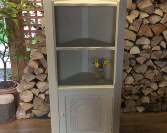 Vintage Corner Cabinet / Shelving Unit