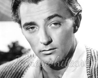 Robert Mitchum - Hollywood Icon - Quality print on A4 (21.0cm x 29.7cm) heavyweight 300g sm Lustre paper