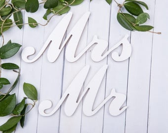 mr mrs signs,  wedding decor,  wooden letters, personalized mr mrs,  mr mrs table signs, mr and mrs letters, mr and mr, wedding mr mrs