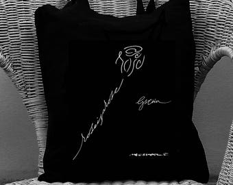 shopper black and white rose is a rose - omage to Stein