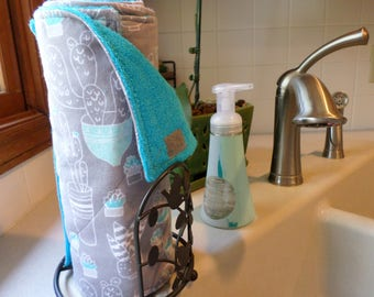 Reusable Unpaper Towels (Kitchen Cactus) / Not Paper Towels / In stock and ready to ship