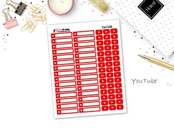 YouTube | Work | Planner Stickers