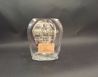 Buffalo Trace Abraham Bowman Brothers Bourbon Whiskey BOTTLE Soy Candle. 750ML. Made To Order