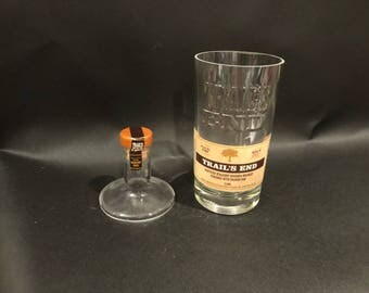 HANDCRAFTED Up-Cycled  750ML Trail's End Bourbon Whiskey BOTTLE Soy Candle With/Without Pedestal Base. Made To Order !!!!!