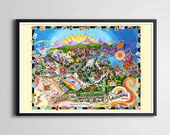 Disney's California Adventure 2001 Grand Opening Map POSTER! (24 x 36 or smaller) - Mickey Mouse - Disneyland - Theme Parks - Wall Decor