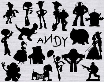 Toy Story SVG Bundle, Toy Story clipart, Toy story silhouette, disney svg files, silhouette cameo and cricut compatible, cut files, dxf