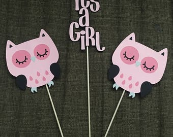 Owl Theme Baby Girl Shower