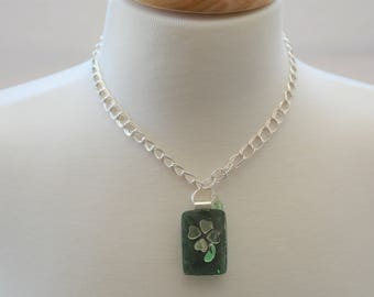 Shimmering Shamrock Necklace