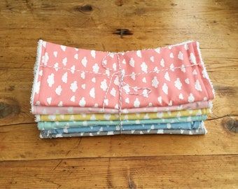 Large Burp Cloths, Baby Burp Cloth, Clouds Burp Cloths, Burp Cloths Bundle, New Baby Gift, Baby Shower Gift