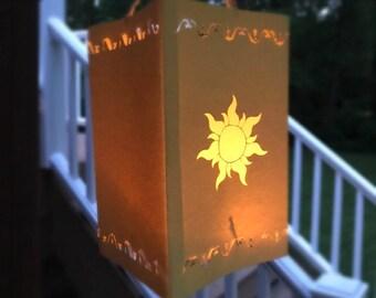 Tangled Lantern | Rapunzel Lantern | Large Hanging Tangled Paper Lantern