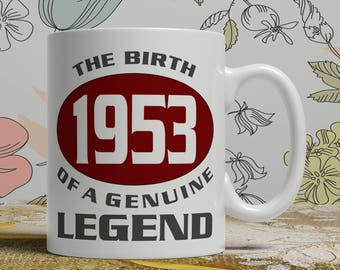 Legend 65th Birthday mug, 65th birthday idea, born 1953 birthday, 65th birthday gift, 65 years old, Happy Birthday, EB 1953 Legend