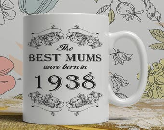 Mum 80th birthday mug mum 80 birthday mug for mum gift ideas for mum present for mum, Any year available on request FF B Mum 1938