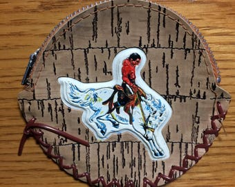 Western Bucking Bronco Change Purse