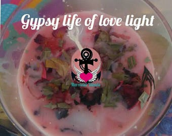 Gypsy Life of Love Light candle spell, ritual kit, Gypsy spell kit, love candle spell, Gypsy affirmation candle, blessed Gypsy candle
