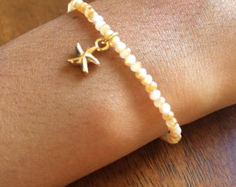 Citrine Beaded Starfish Bracelet