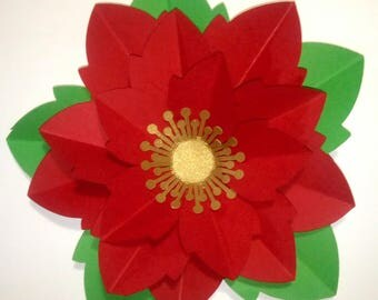 Christmas Poinsettia flower 3d/Christmas flower