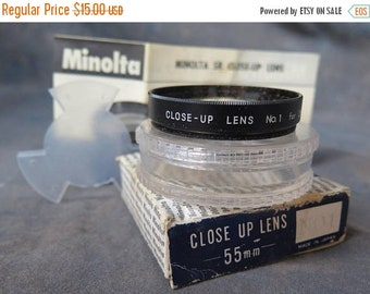 Minolta Close Up Lens Filter 55mm No. 1 Made In Japan w/ Case And Box