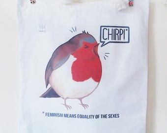 Feminist Bird Tote Bag