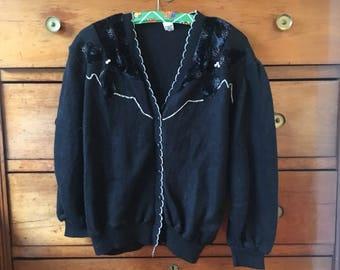 Vintage cardigan 80's 90's size M-L