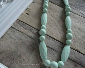 Teething necklace. [Simply Mint].