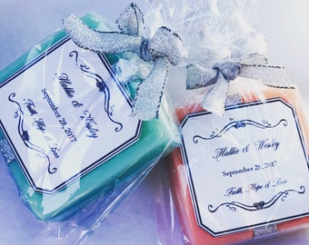 25 4oz soap wedding favors, brial shower favors, baby shower favors, custom soaps favors