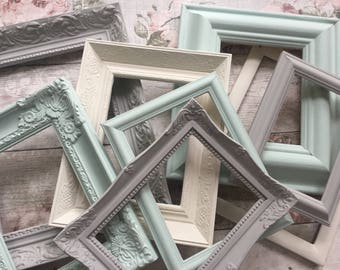 Shabby Chic Frames Ornate Frame Set Cottage Chic Home Decor Wall Decor Gallery Wall Open Frame Set  **MADE TO ORDER **