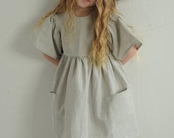 Girls dress, linen girls dress, Little dress, dress for girl, cotton dress, linen dress, linen dress for girl