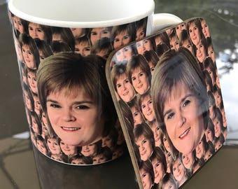 Nicola Sturgeon Mug and Coaster Gift Set