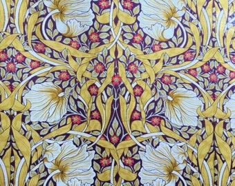 Pimpernel fabric - William Morris fabric - amber cotton lawn - Art Nouveau fabric - William Morris print - Edwardian fabric