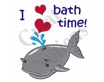 Love Bath Time - Machine Embroidery Design