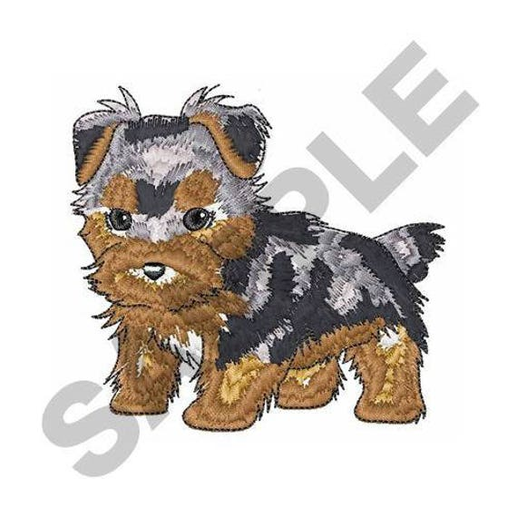 Yorkshire terrier machine embroidery design from