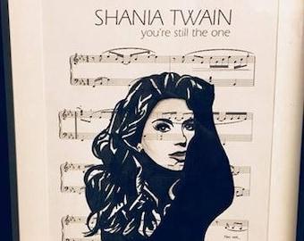 Shania Twain sheet music art