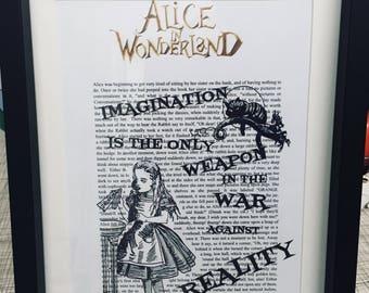 Alice in Wonderland book art