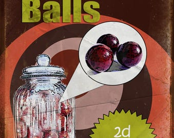 Nostalgic Sweets Aniseed Balls Metal Sign / Plaque Home Decor Kitchen  Stunning Gift