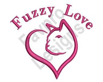 Fuzzy Love - Machine Embroidery Design