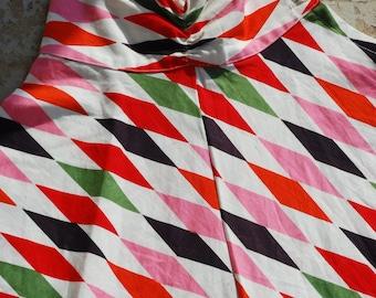 1950s Harlequin Aline skirt
