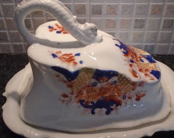Large Floral Cheese Dish