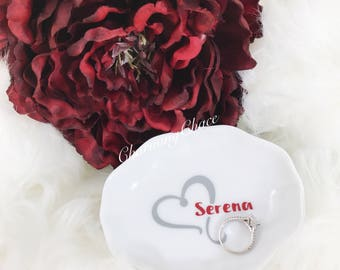 Jewelry Dish - Personalized Ring Dish - Ring Dish - Monogram Jewelry Dish - Wedding Ring Dish - Bridesmaid Gift