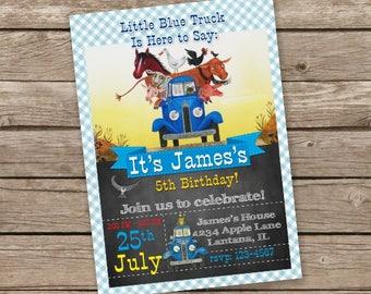 Little Blue Truck Invitation, Little Blue Truck Birthday, Little Blue Truck Invite, Party, Printables, Printable Little Blue Truck