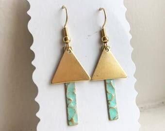 Shaped Dangle Earrings