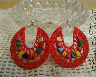 Handmade Crochet earrings In Italy