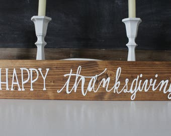 Reversible Happy Thanksgiving/ Merry Christmas sign