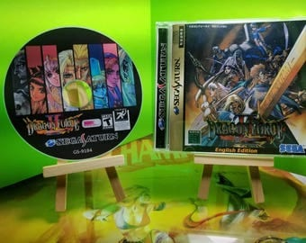 Dragon Force 2 English Translation sega saturn reproduction art dvd case n disc with rom files