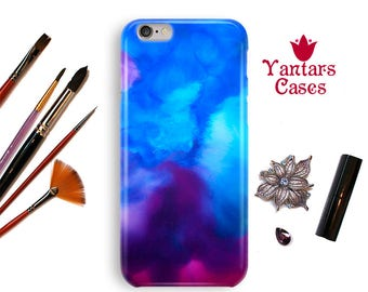 Protective iphone case 6s iPhone 8 case abstract iPhone 5 case watercolor iPhone 6 Plus case Blue phone 6S case X case phone Case 7 Plus