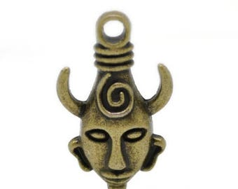 2 pendants of Dean Winchester in Supernatural protection amulet, bronze