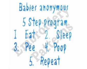 Babies Anonymous - Machine Embroidery Design