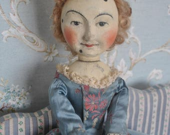 Hand Carved 1680's William Higgs Type Wooden doll