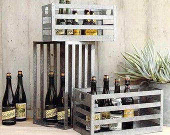 Nesting Galvanized Steel Crates